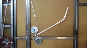 Walter Dome door with bicycle gear opening mechanism