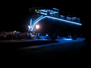 Walter loading onto trailer